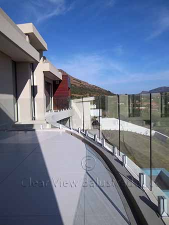 faceted glass balustrade
