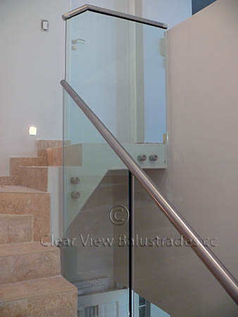 clip on glass handrail