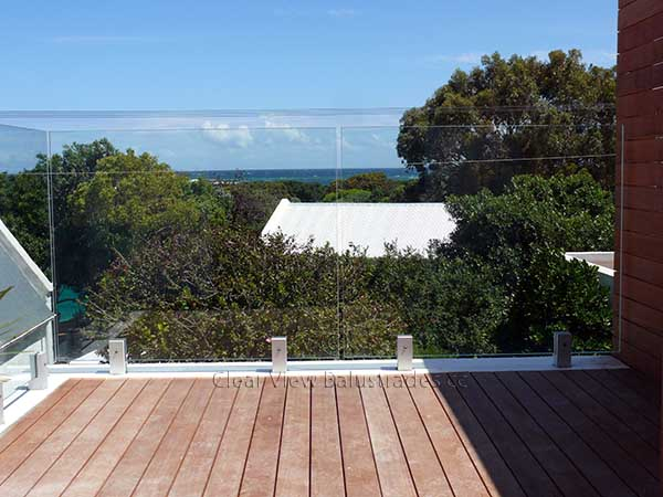 glass balustrade sea views